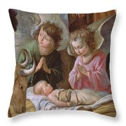 The Adoration Throw Pillow by Le Nain