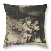 The Agony In The Garden Throw Pillow by Rembrandt