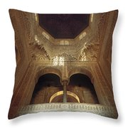 The Alhambra The Infantas Tower Throw Pillow by Guido Montanes Castillo