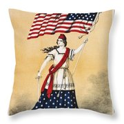 The american flag a new national lyric Throw Pillow by Aged Pixel