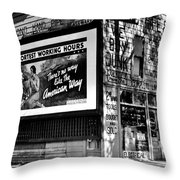 The American Way - Shortest Working Hours Throw Pillow by Benjamin Yeager