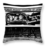 The American Way - Standard Of Living Throw Pillow by Benjamin Yeager