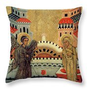 The Annunciation Throw Pillow by Fedusko of Sambor