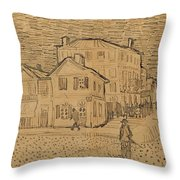 The Artists House In Arles Throw Pillow by Vincent Van Gogh