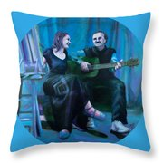 The Artists Throw Pillow by Shelley Irish