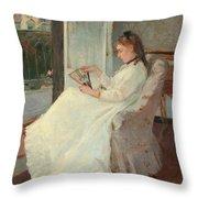 The Artist's Sister At A Window Throw Pillow by Berthe Morisot