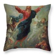 The Ascension Throw Pillow by Jean Francois de Troy