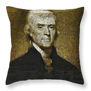 The Author Of America Throw Pillow by Bill Cannon