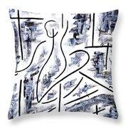 The Ballet Rehearsal Throw Pillow by Kamil Swiatek