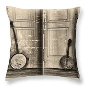 The Banjo Story Throw Pillow by Bill Cannon