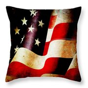 The Banner Yet Waves Throw Pillow by Angelina Vick