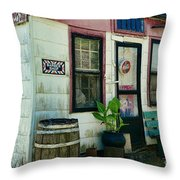 The Barber Shop From A Different Era Throw Pillow by Paul Ward