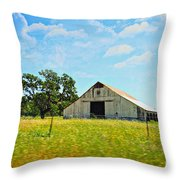The Barn Throw Pillow by Cheryl Young
