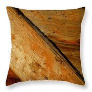 The Barn Door Throw Pillow by William Jobes