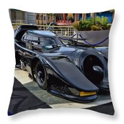 The Batmobile Throw Pillow by Tommy Anderson