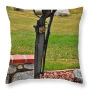 The Battlefield Cross Throw Pillow by Janice Rae Pariza