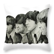 The Beatles 2 Throw Pillow by MB Art factory