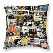 The Beatles Collage Throw Pillow by Taylan Soyturk