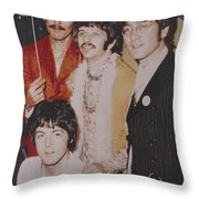 The Beatles In Color Throw Pillow by Donna Wilson
