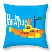 The Beatles No.11 Throw Pillow by Caio Caldas