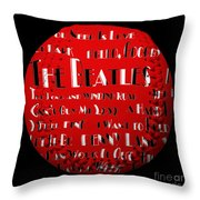 The Beatles Songs Baseball Square Throw Pillow by Andee Design