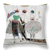 The Beautiful Savages Throw Pillow by Georges Barbier