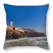 The Beauty Of Nubble Throw Pillow by Joann Vitali
