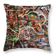 The Beheading Of Creative Impulse Part 2 Throw Pillow by Michael Kulick