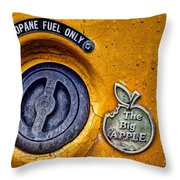 The Big Apple Throw Pillow by John Farnan