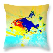 The Big Fish Throw Pillow by Hilde Widerberg