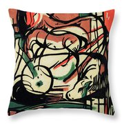 The Birth of the Horse Throw Pillow by Franz Marc