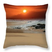 The Birth Of The Island Throw Pillow by Sharon Mau