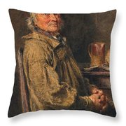 The Blessing Throw Pillow by William Henry Hunt