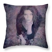 The Blown Kiss Throw Pillow by Loriental Photography