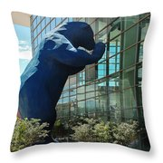 The Blue Bear  Throw Pillow by Dany Lison
