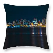 The Blue Monster Throw Pillow by James Heckt