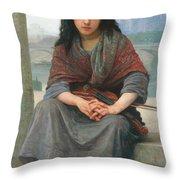 The Bohemian Throw Pillow by William Adolphe Bouguereau