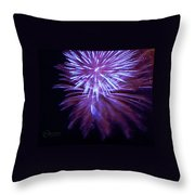 The Bombs Bursting In Air Throw Pillow by Robert ONeil