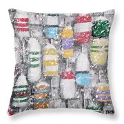 The Bouys Were Hung On The Shack With Care Throw Pillow by Jack Skinner