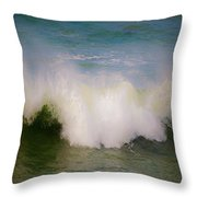 The Breaking Of A Wave ... Throw Pillow by Gwyn Newcombe