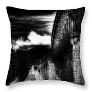 The Bridge Throw Pillow by Erik Brede