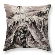 The Bright And Morning Star Throw Pillow by Rachel Christine Nowicki