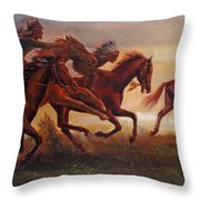 The Bright Lure Of Freedom Throw Pillow by Svitozar Nenyuk