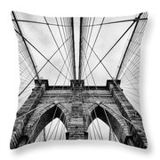 The Brooklyn Bridge Throw Pillow by John Farnan