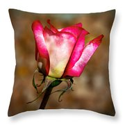 The Bud Throw Pillow by Robert Bales