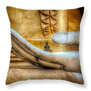 The Buddhas Hand Throw Pillow by Adrian Evans