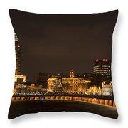 The Bund, Shanghai Throw Pillow by John Shaw