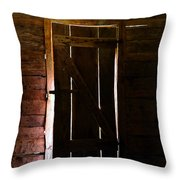 The Cabin Door Throw Pillow by David Lee Thompson