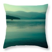 The Calmness Of Priest Lake Throw Pillow by David Patterson