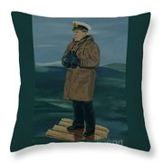 The Captain Throw Pillow by Anthony Dunphy